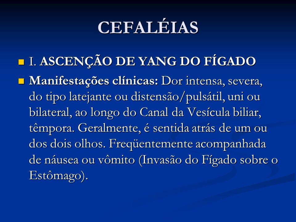 CEFALÉIAS I. ASCENÇÃO DE YANG DO FÍGADO