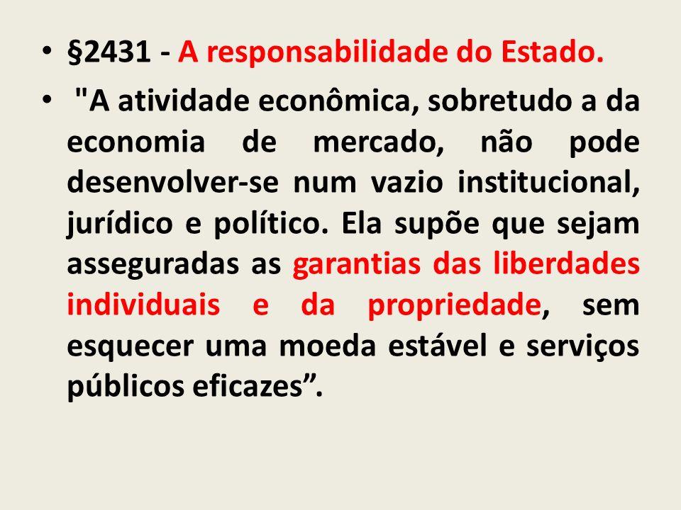 §2431 - A responsabilidade do Estado.