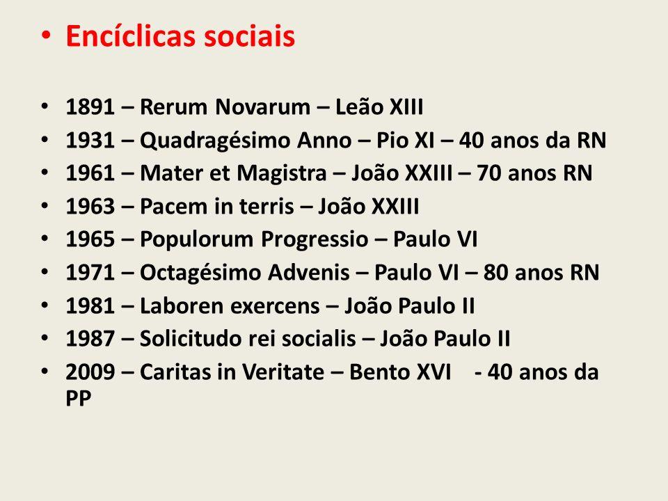 Encíclicas sociais 1891 – Rerum Novarum – Leão XIII
