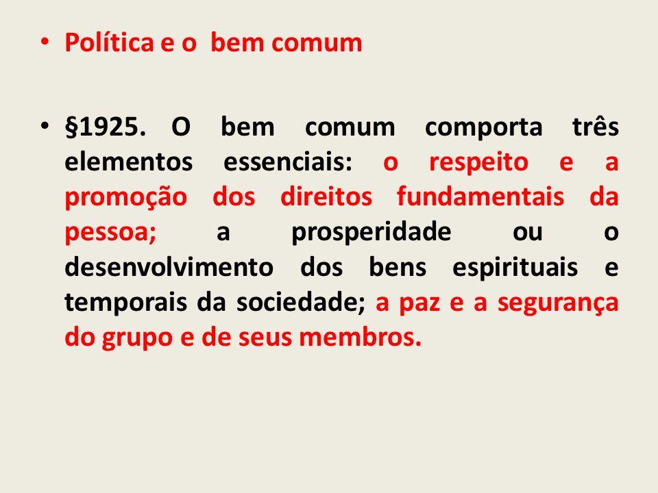 Política e o bem comum