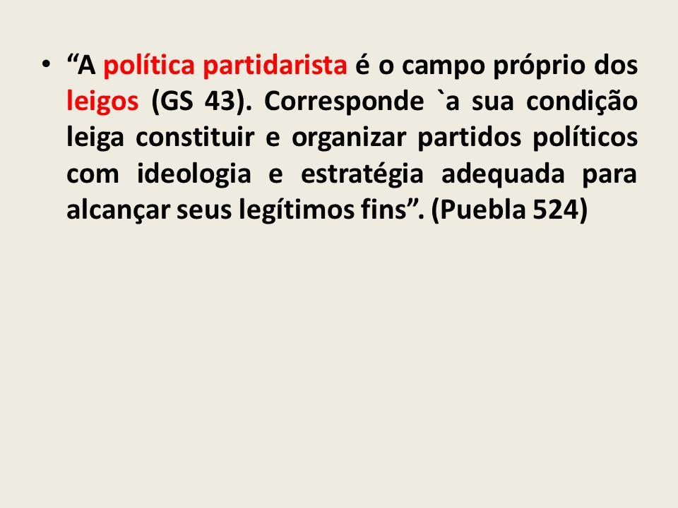 A política partidarista é o campo próprio dos leigos (GS 43)