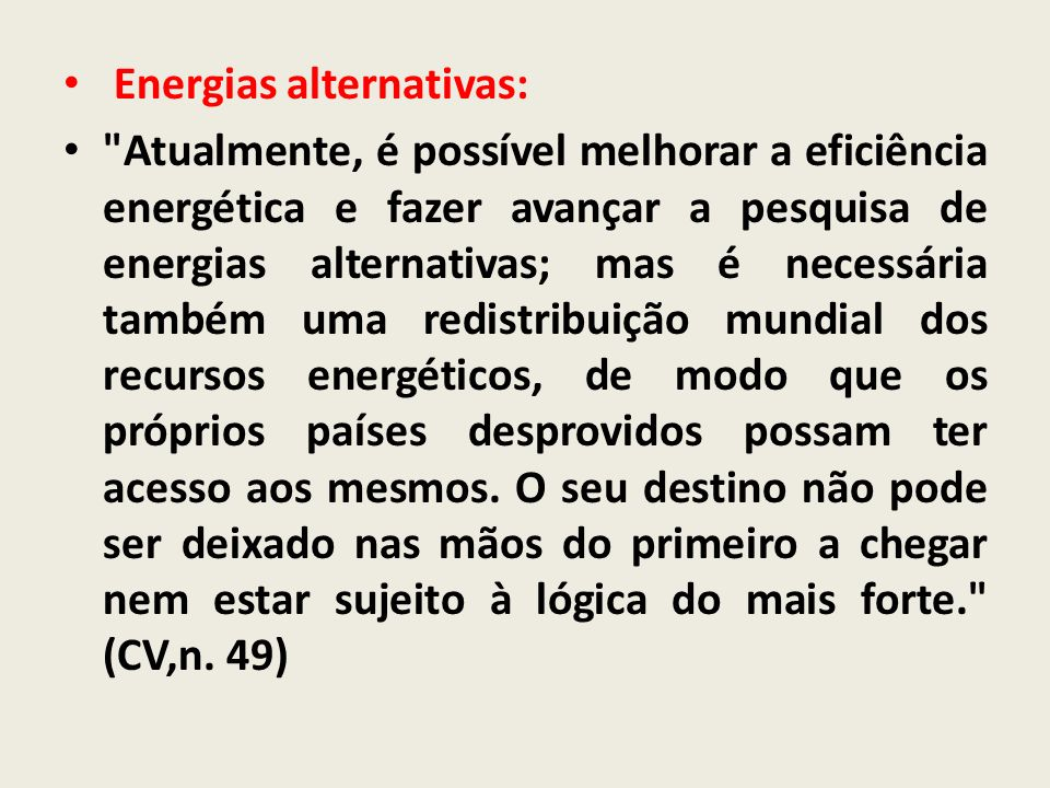 Energias alternativas: