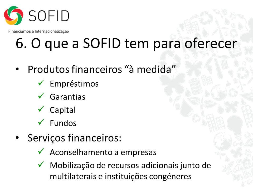 6. O que a SOFID tem para oferecer