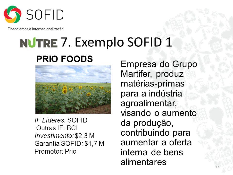 7. Exemplo SOFID 1 PRIO FOODS
