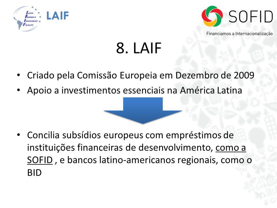 8. LAIF LAIF Criado pela Comissão Europeia em Dezembro de 2009