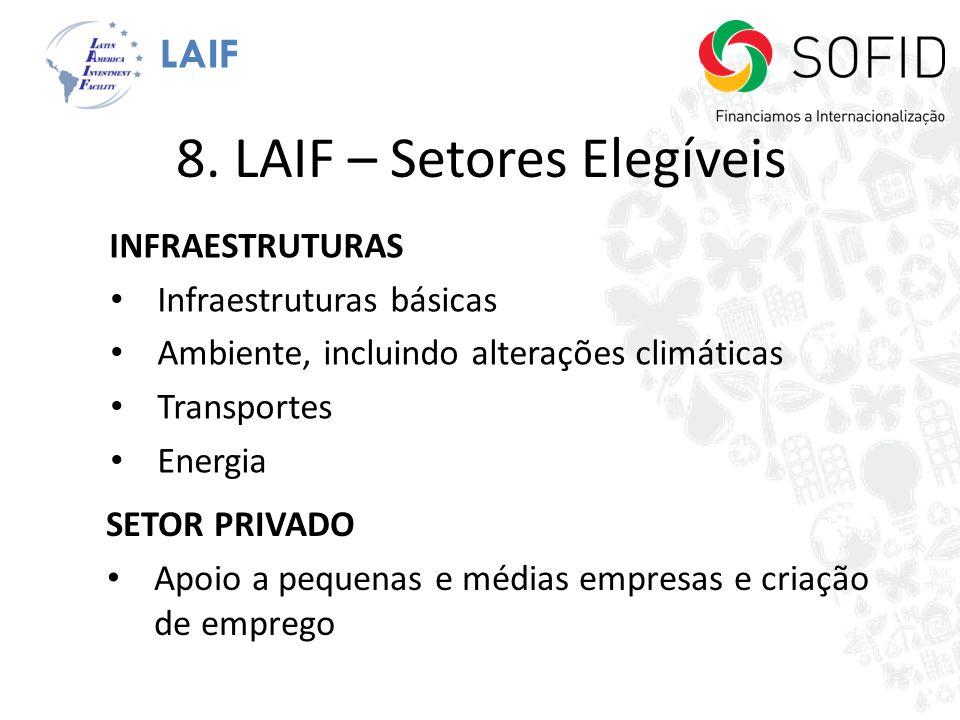 8. LAIF – Setores Elegíveis