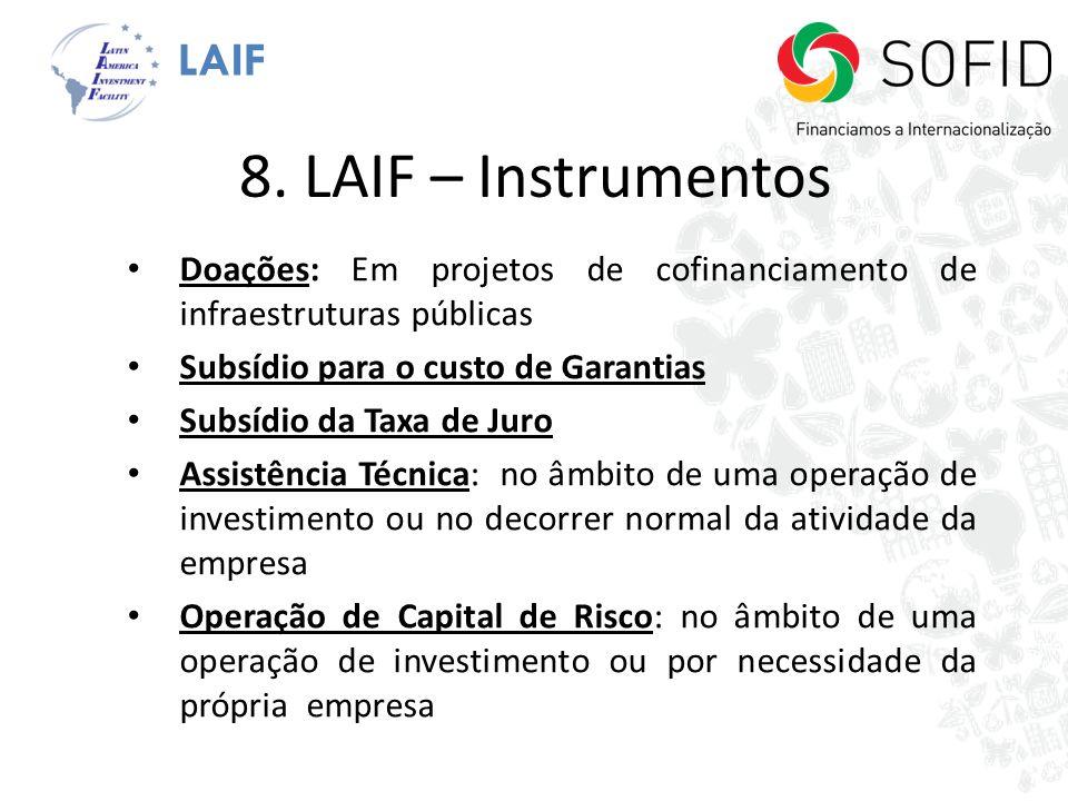 8. LAIF – Instrumentos LAIF