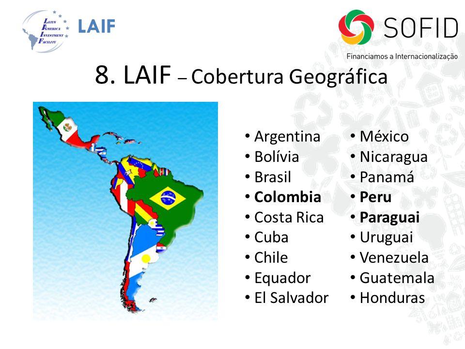 8. LAIF – Cobertura Geográfica