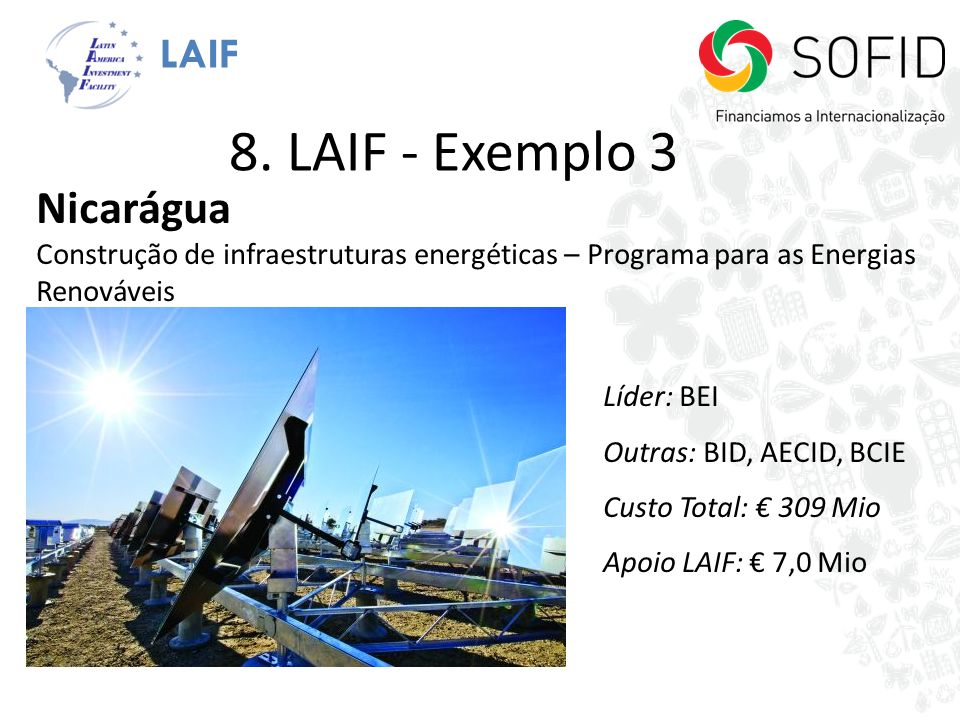 8. LAIF - Exemplo 3 Nicarágua LAIF