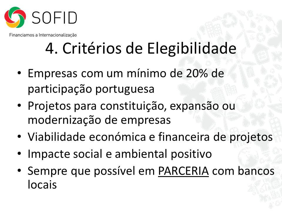 4. Critérios de Elegibilidade
