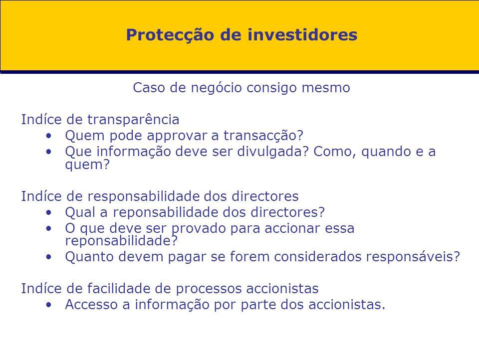 Protecção de investidores