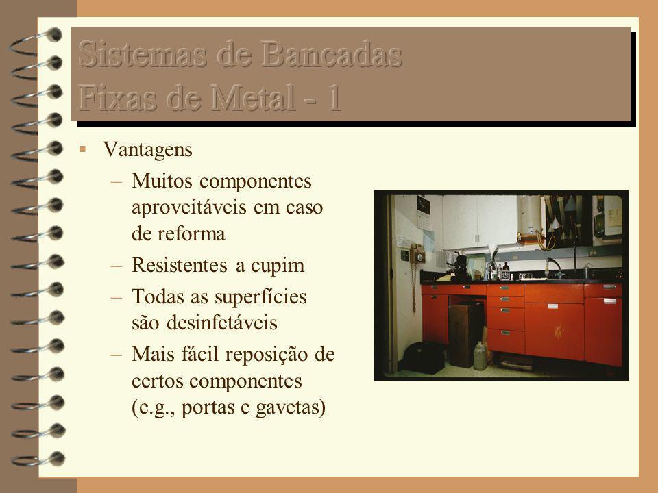 Sistemas de Bancadas Fixas de Metal - 1