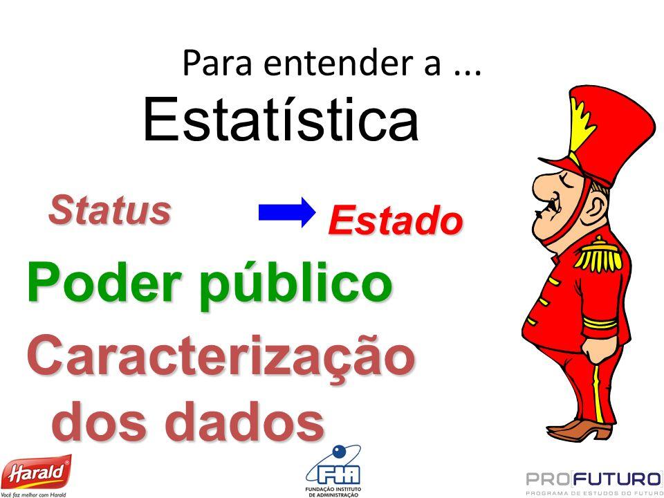 Estatística Poder público Caracterização dos dados Para entender a ...