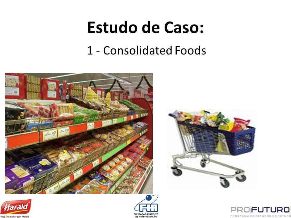 Estudo de Caso: 1 - Consolidated Foods