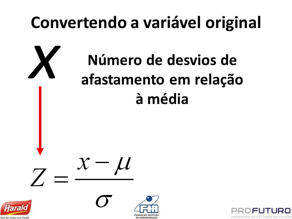 Convertendo a variável original