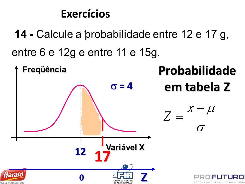 Probabilidade em tabela Z