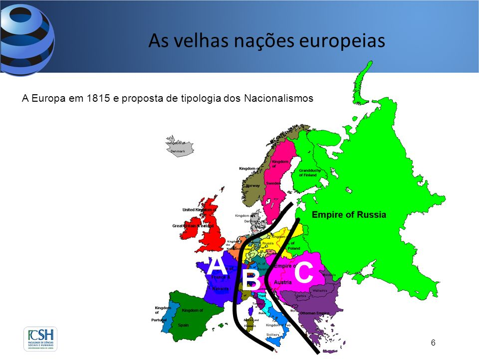 As velhas nações europeias