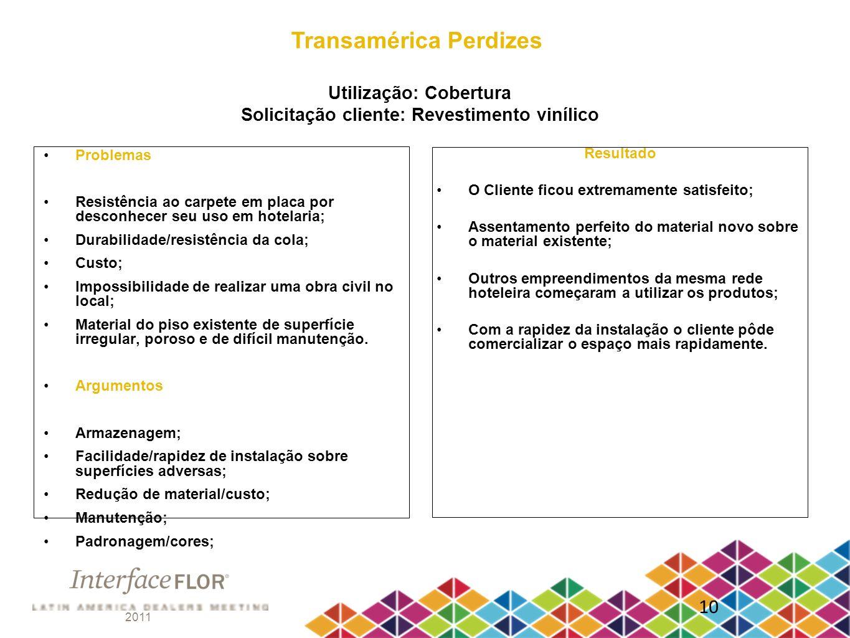 Transamérica Perdizes Utilização: Cobertura Solicitação cliente: Revestimento vinílico