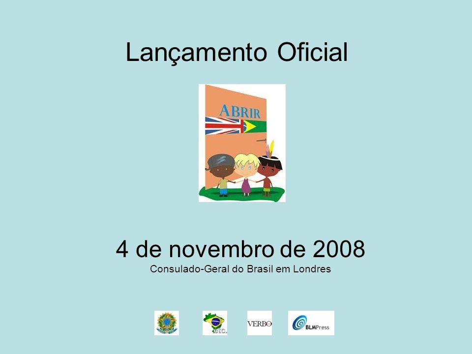 4 de novembro de 2008 Consulado-Geral do Brasil em Londres