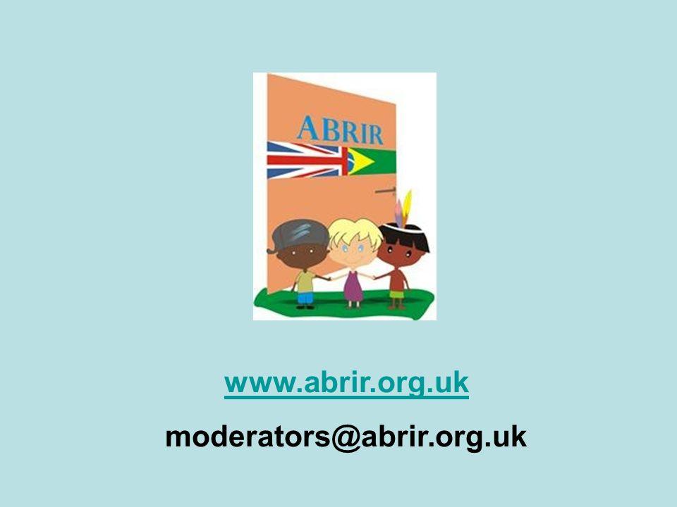 www.abrir.org.uk moderators@abrir.org.uk