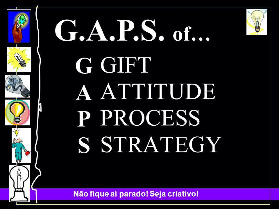 G.A.P.S. of… G A P S GIFT ATTITUDE PROCESS STRATEGY