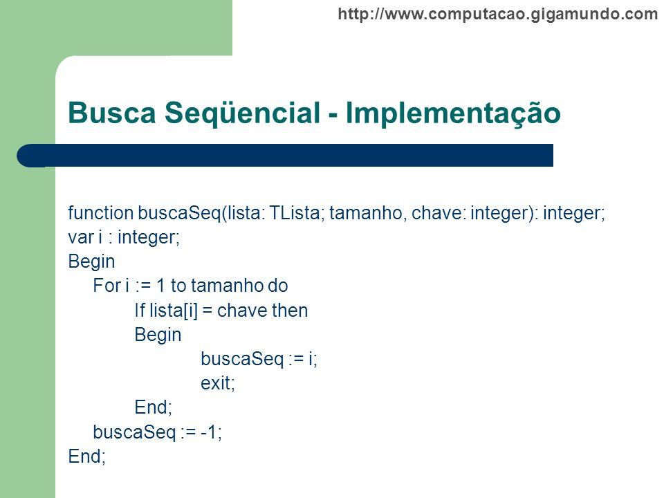 Busca Seqüencial - Implementação