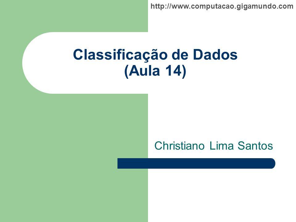 Classificação de Dados (Aula 14)
