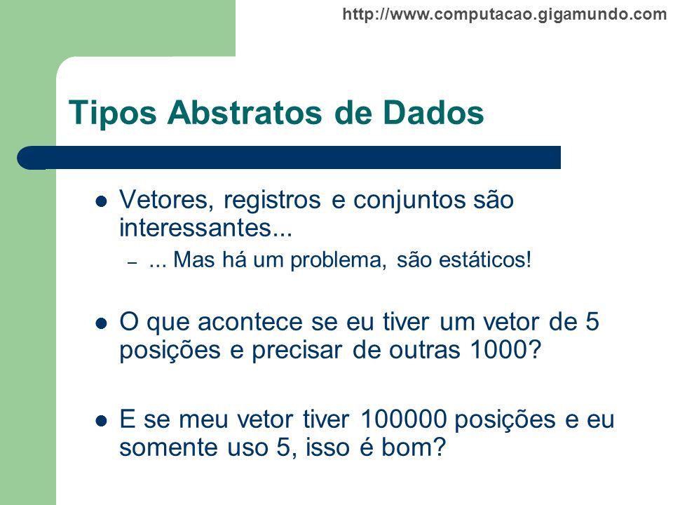 Tipos Abstratos de Dados