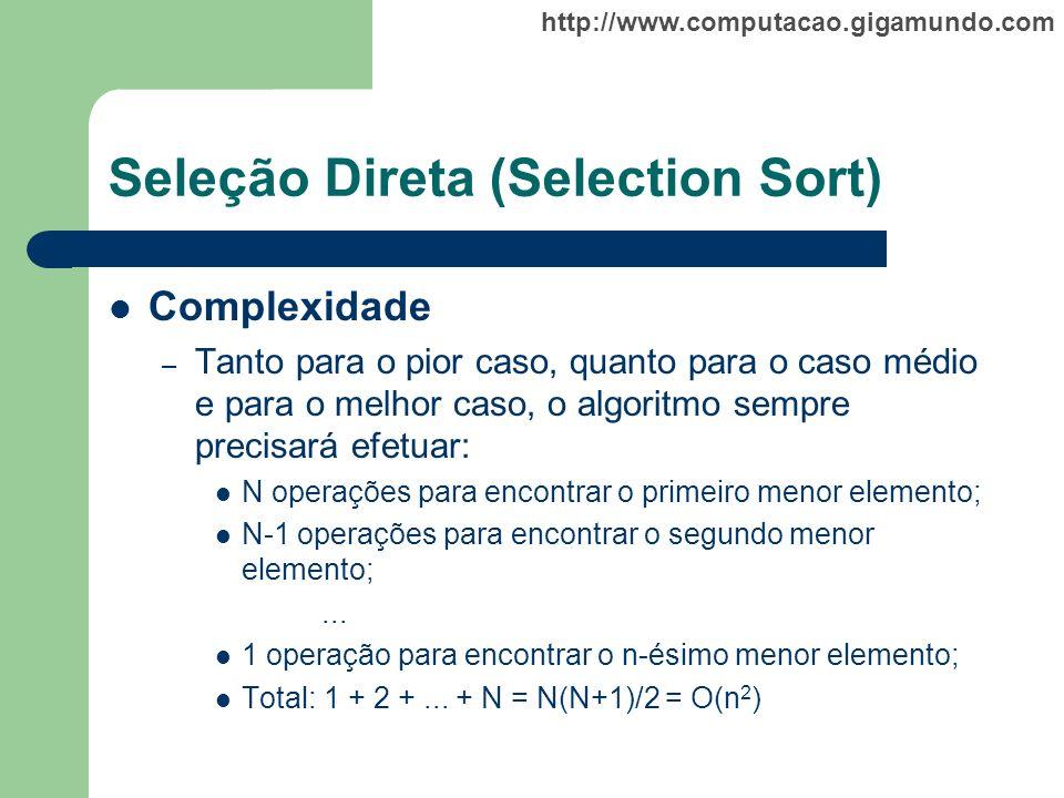 Seleção Direta (Selection Sort)