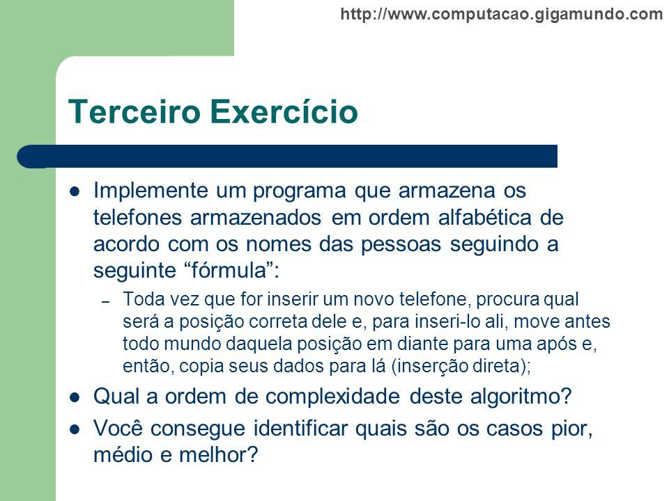 Terceiro Exercício