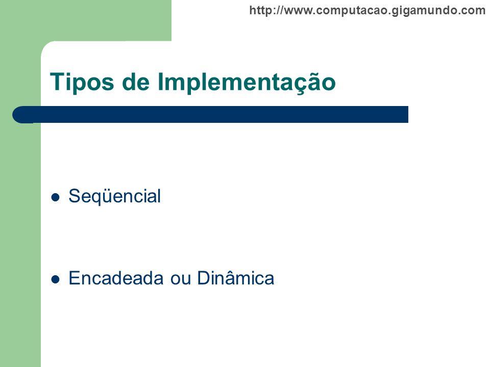 Tipos de Implementação