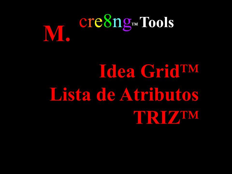 cre8ng™ Tools M. Idea Grid™ Lista de Atributos TRIZ™