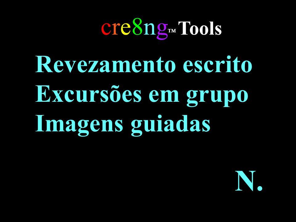 N. cre8ng™ Tools Revezamento escrito Excursões em grupo