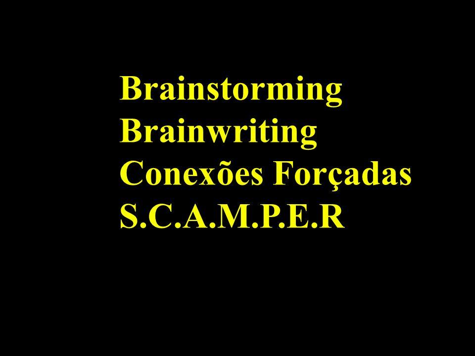 Brainstorming Brainwriting Conexões Forçadas S.C.A.M.P.E.R