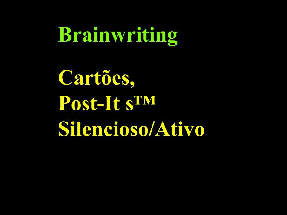 Brainwriting Cartões, Post-It s™ Silencioso/Ativo