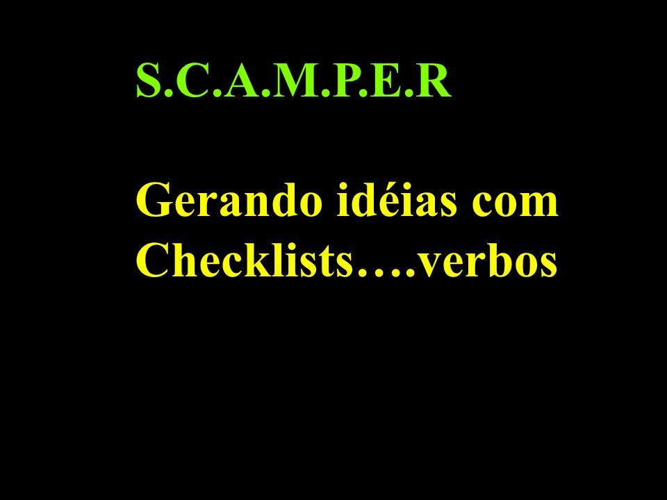 S.C.A.M.P.E.R Gerando idéias com Checklists….verbos
