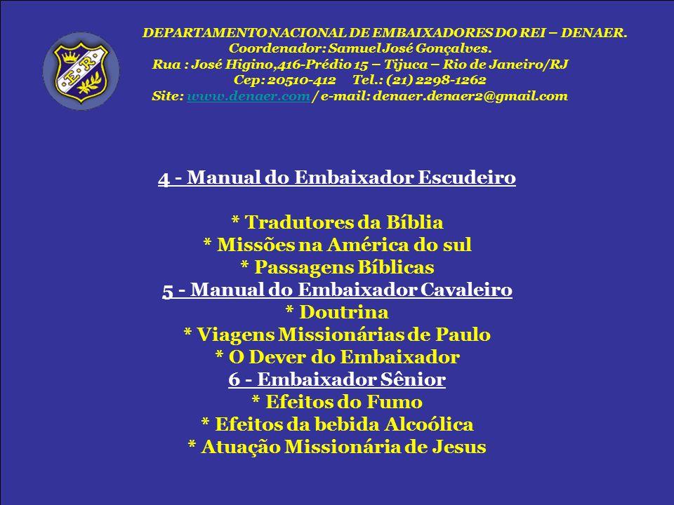 4 - Manual do Embaixador Escudeiro * Tradutores da Bíblia
