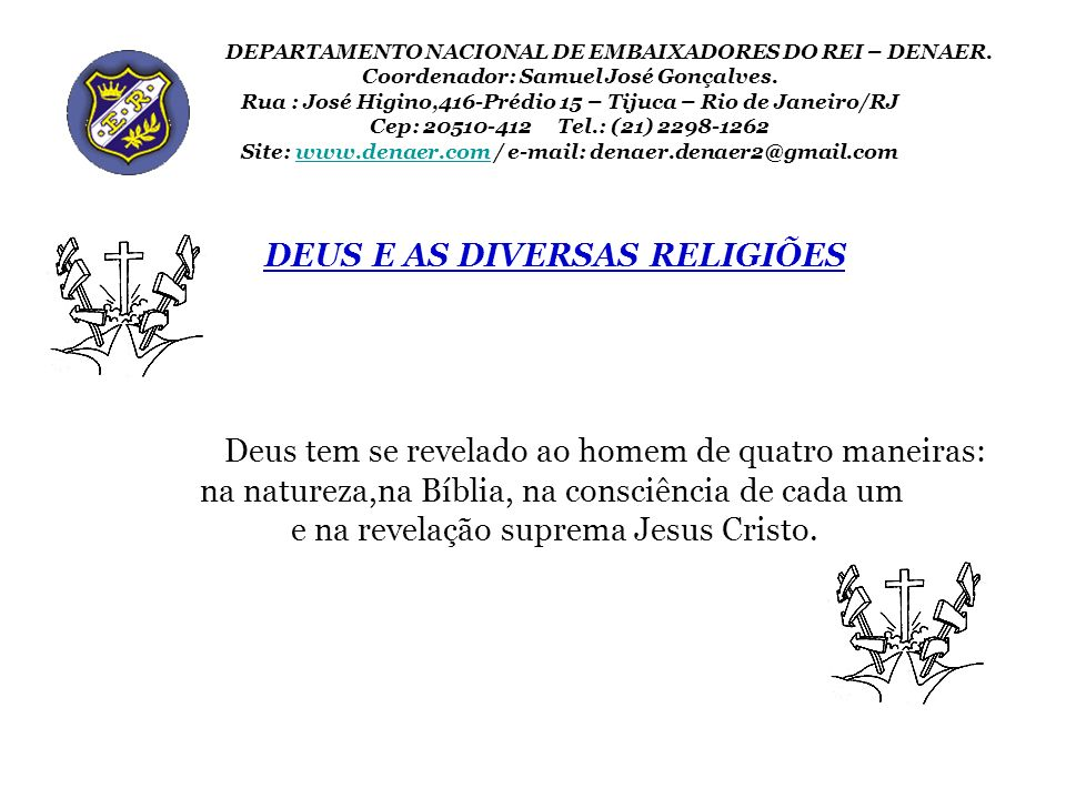 DEUS E AS DIVERSAS RELIGIÕES