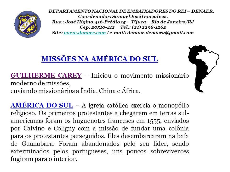 MISSÕES NA AMÉRICA DO SUL
