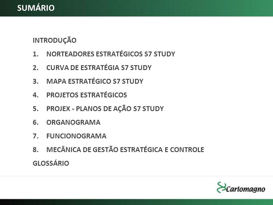 SUMÁRIO INTRODUÇÃO NORTEADORES ESTRATÉGICOS S7 STUDY