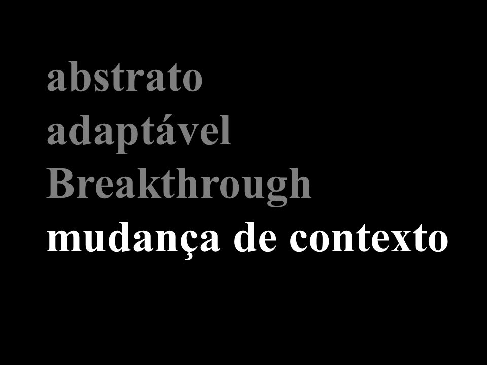 abstrato adaptável Breakthrough mudança de contexto