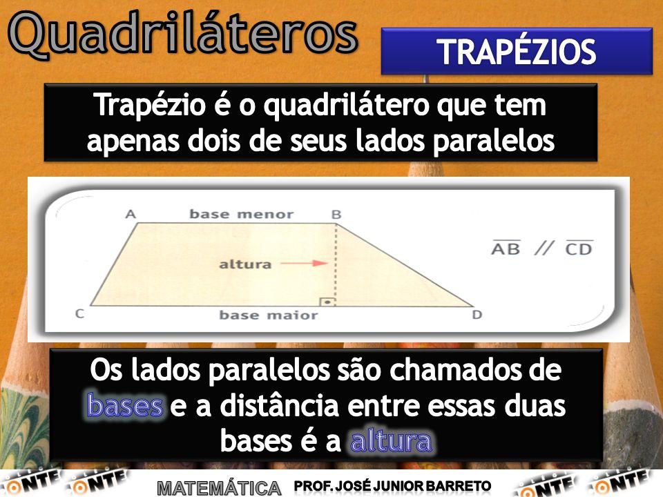 Trapézio é o quadrilátero que tem apenas dois de seus lados paralelos