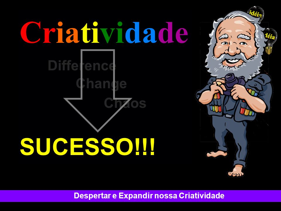 Criatividade . Difference Change Chaos SUCESSO!!!