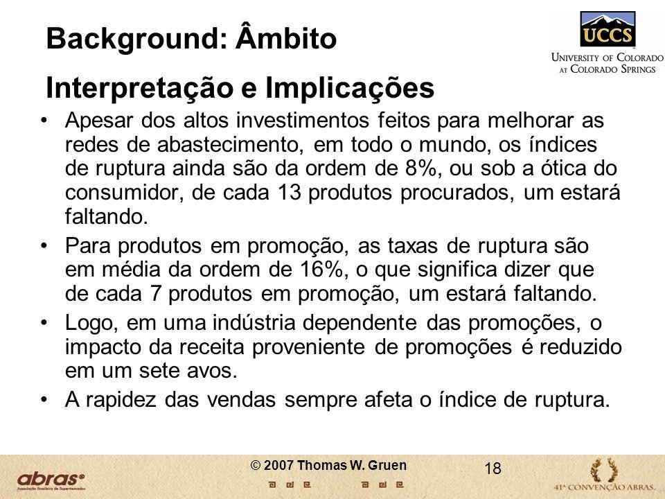 Background: Âmbito Interpretação e Implicações