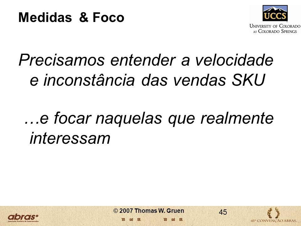 Precisamos entender a velocidade e inconstância das vendas SKU