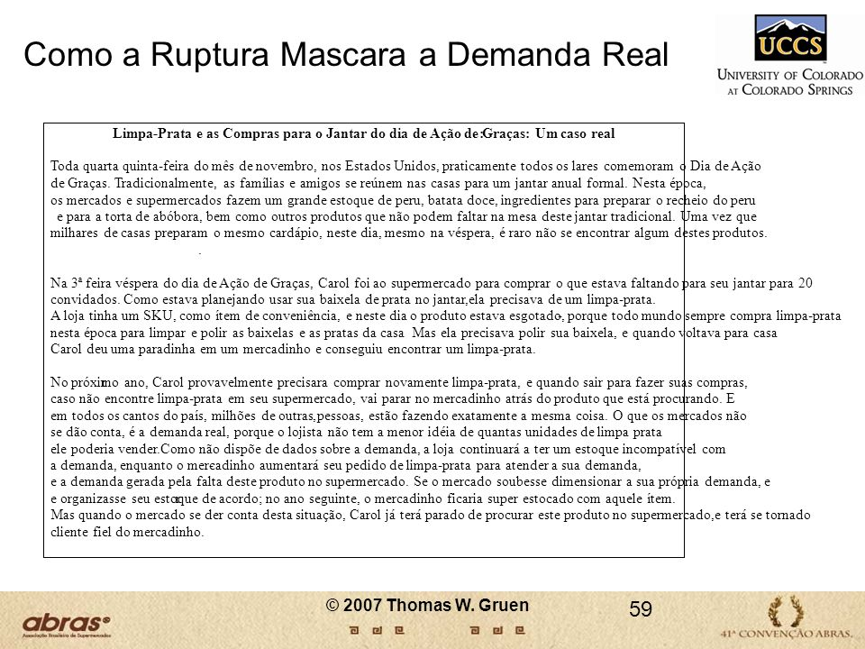 Como a Ruptura Mascara a Demanda Real