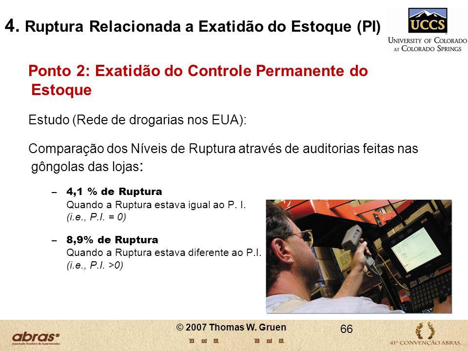 4. Ruptura Relacionada a Exatidão do Estoque (PI)
