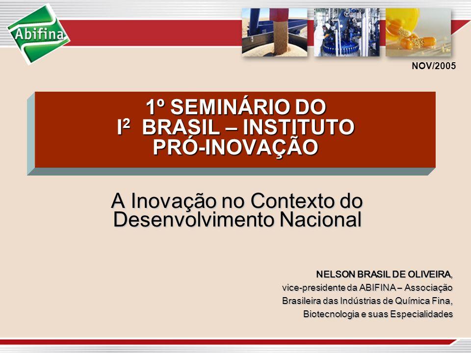 1º SEMINÁRIO DO I2 BRASIL – INSTITUTO PRÓ-INOVAÇÃO