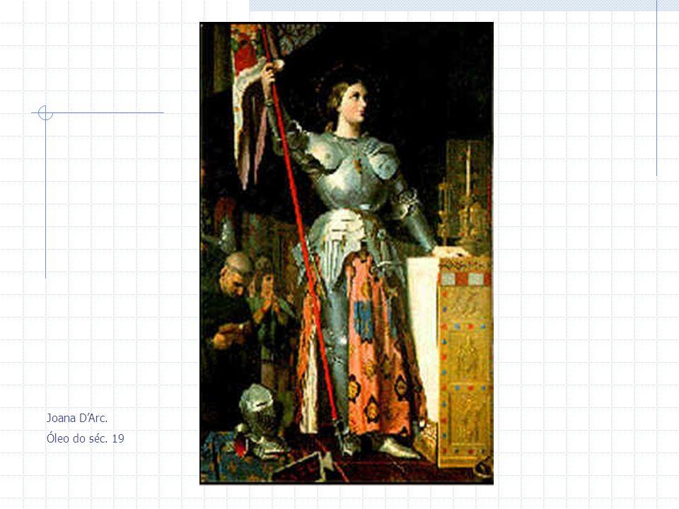 Joana D'Arc. Óleo do séc. 19