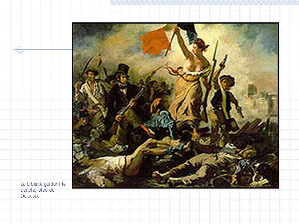 La Liberté guidant le peuple, óleo de Delacoix